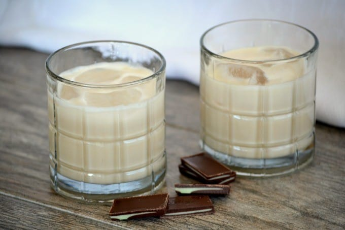 Homemade Bailey's Irish Cream made with cream, condensed milk, a touch of chocolate, whiskey and Davidson's Safest Choice™ Pasteurized Eggs - a delicious drink you'll be happy to serve to family and friends.