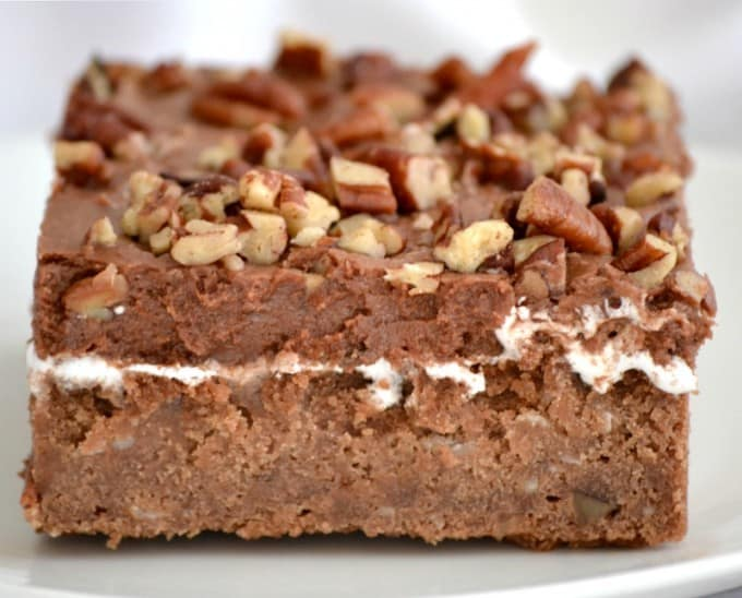 Mississippi Mud Cake With Coconut And Pecans