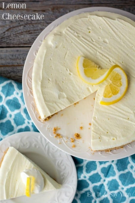 No Bake Lemon Cheesecake 365 Days Of Baking And More