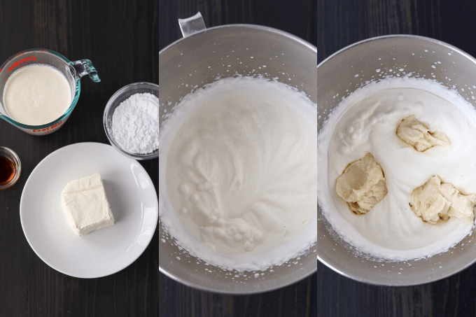 The process of making Stabilized Whipped Cream.