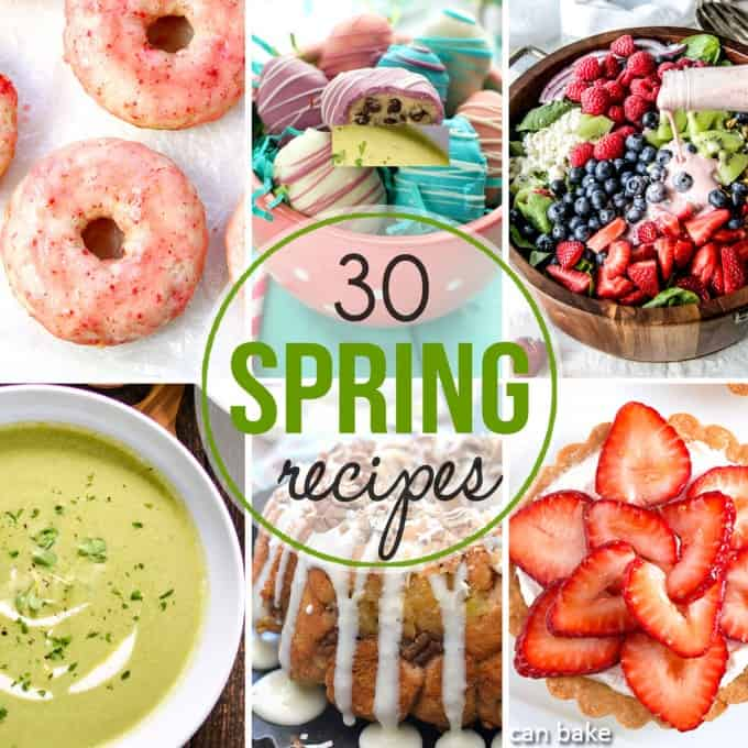 These 30 Spring recipes from lunches to dinners, desserts and more will have you jumping for joy and enjoying the flavors of the season!
