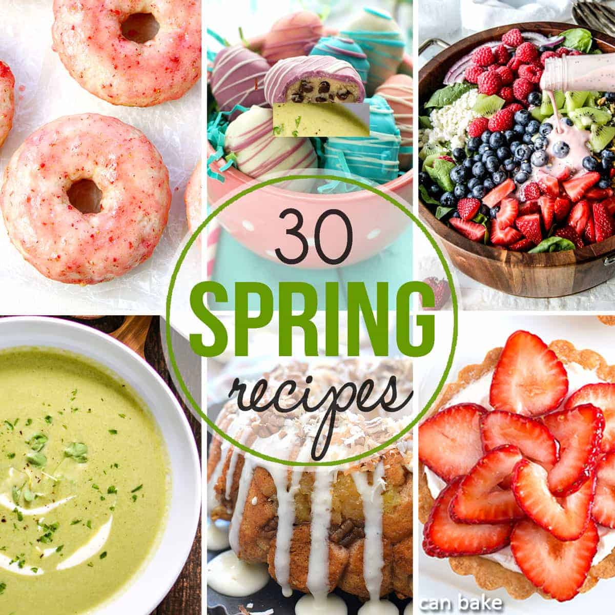 These 30 Spring recipesfrom lunches to dinners, desserts and more will have you jumping for joy and enjoying the flavors of the season!