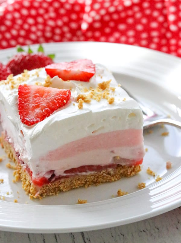 Strawberry Cheesecake Dream Bars.