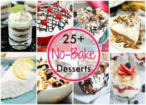 More than 25 great desserts for you to bring to your summer cookouts! Why turn the oven on when you can make a great sweet treat without it!