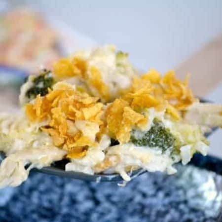 This Cheesy Chicken, Broccoli and Rice Casserolehas cheese, broccoli, rice and uses a rotisserie chicken, making it an easy dinner for a busy weeknight!