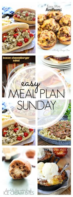 With Easy Meal Plan Sunday {Week 57}, these six dinners, two desserts and a breakfast recipe will help you remove the guesswork from this week's meal planning. Enjoy!