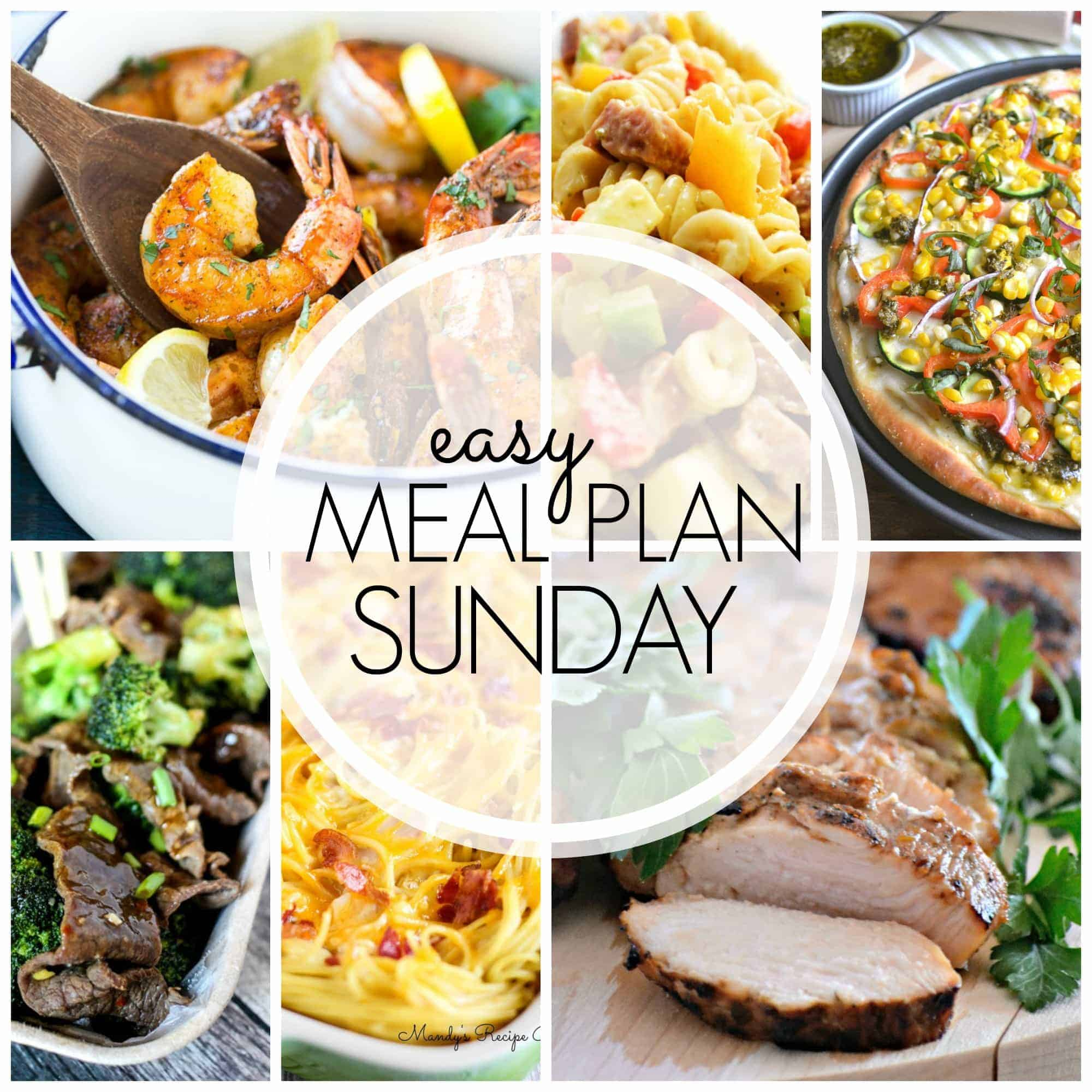 With Easy Meal Plan Sunday {Week 58} - six dinners, two desserts and a breakfast recipe will help you remove the guesswork from this week's meal planning.