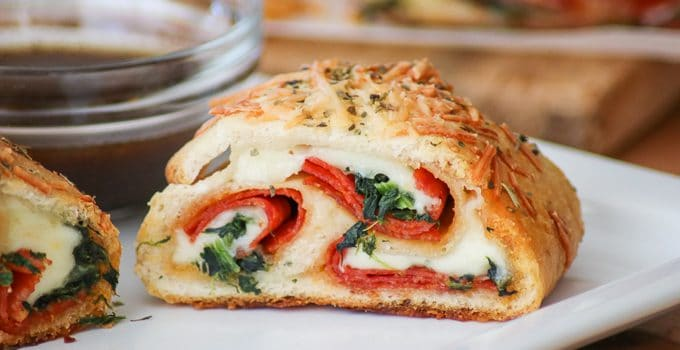 Spinach Pepperoni Bread