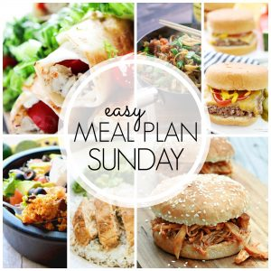 With Easy Meal Plan Sunday {Week 60}, these six dinners, two desserts and a breakfast recipe will help you remove the guesswork from this week's meal planning. Enjoy!