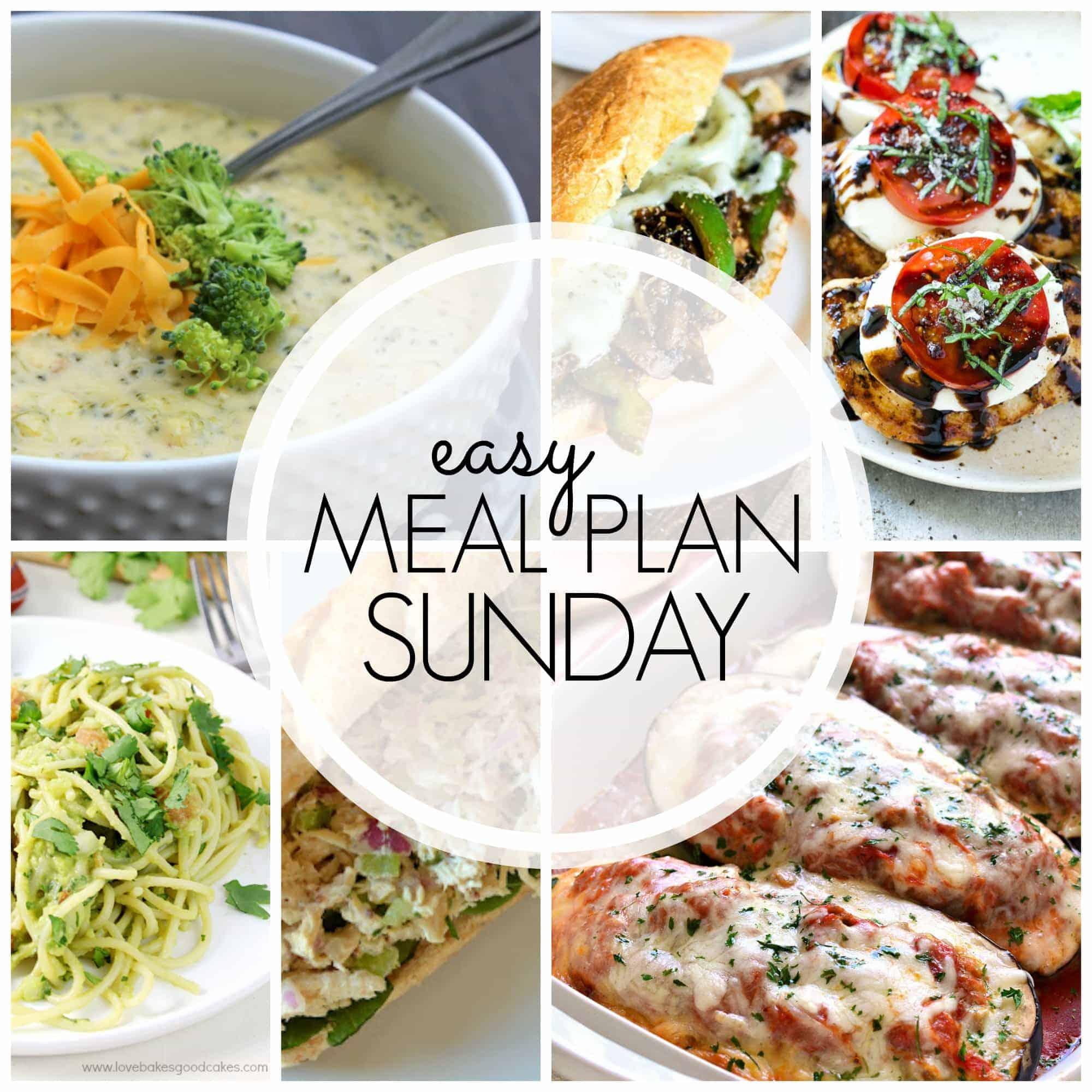 easy meal plan sunday week 61