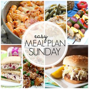 With Easy Meal Plan Sunday {Week 59}, these six dinners, two desserts and a breakfast recipe will help you remove the guesswork from this week's meal planning. Enjoy!