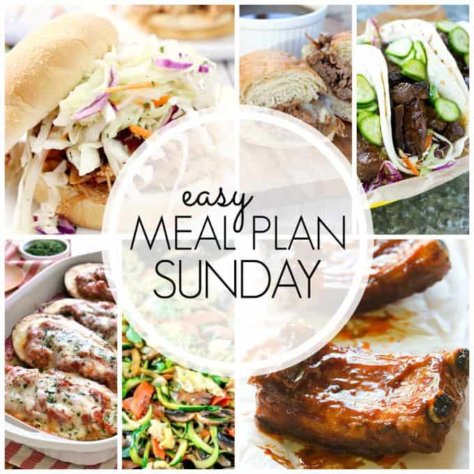 With Easy Meal Plan Sunday Week 62 - six dinners, two desserts and a breakfast recipe will help you remove the guesswork from this week's meal planning.
