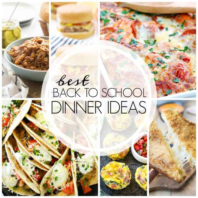 These Best Back to School Dinner Ideas are easy entrees to help see you through the busy school year. Put an easy AND feel good dinner on the table tonight!
