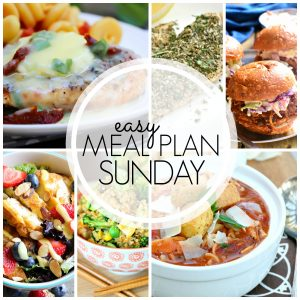 With Easy Meal Plan Sunday Week 64 - six dinners, two desserts and a breakfast recipe will help you remove the guesswork from this week's meal planning.