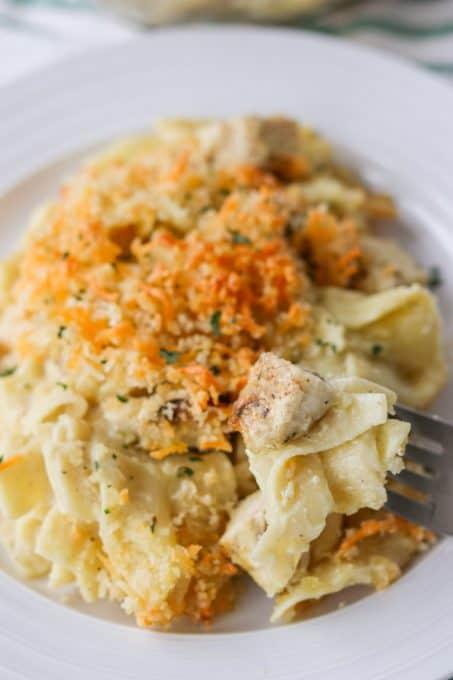 चिकन नूडल पुलाव।