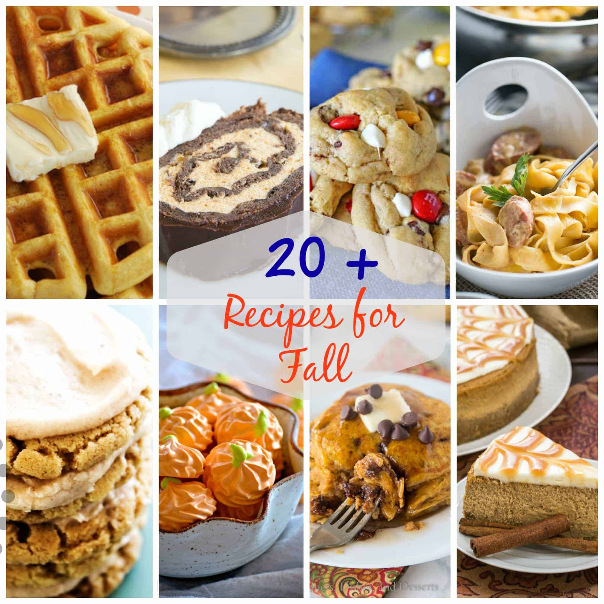 With these 20+ Recipes for Fall from breakfast to dessert and everything in between, this collection is sure to give you all the tastes of the season. Put some smiles on the faces of your family and friends when you make these recipes.