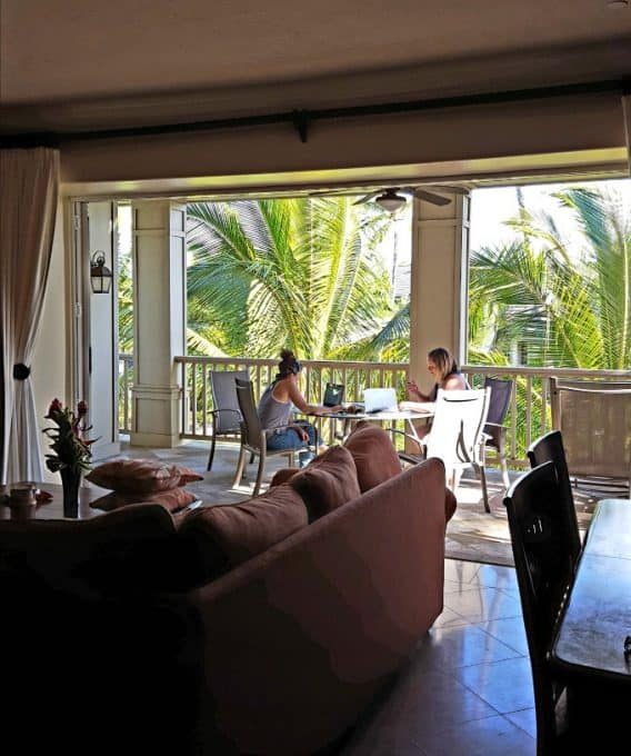 Kauai: Where to Stay and What to Do. Open lanai doors at The Villas at PoipuKai on Kauai, HI