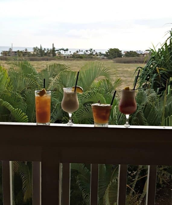 Drinks at Merriman's on Kauai, HI
