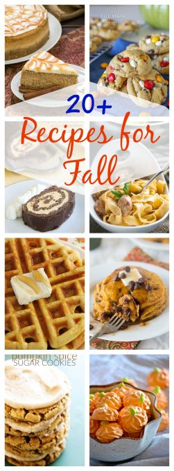 With these20+ Recipes for Fall from breakfast to dessert and everything in between, this collection is sure to give you all the tastes of the season. Put some smiles on the faces of your family and friends when you make these recipes.