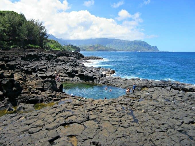 Kauai: Where to Stay and What to Do. Queen's Bath on Kauai, HI
