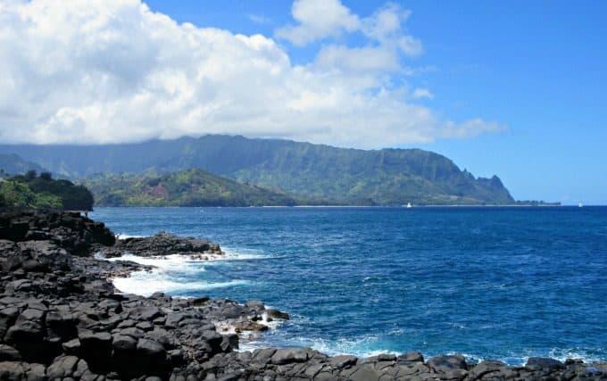 Kauai: Where to Stay and What to Do. View at Queen's Bath, Princeville, Kauai, HI