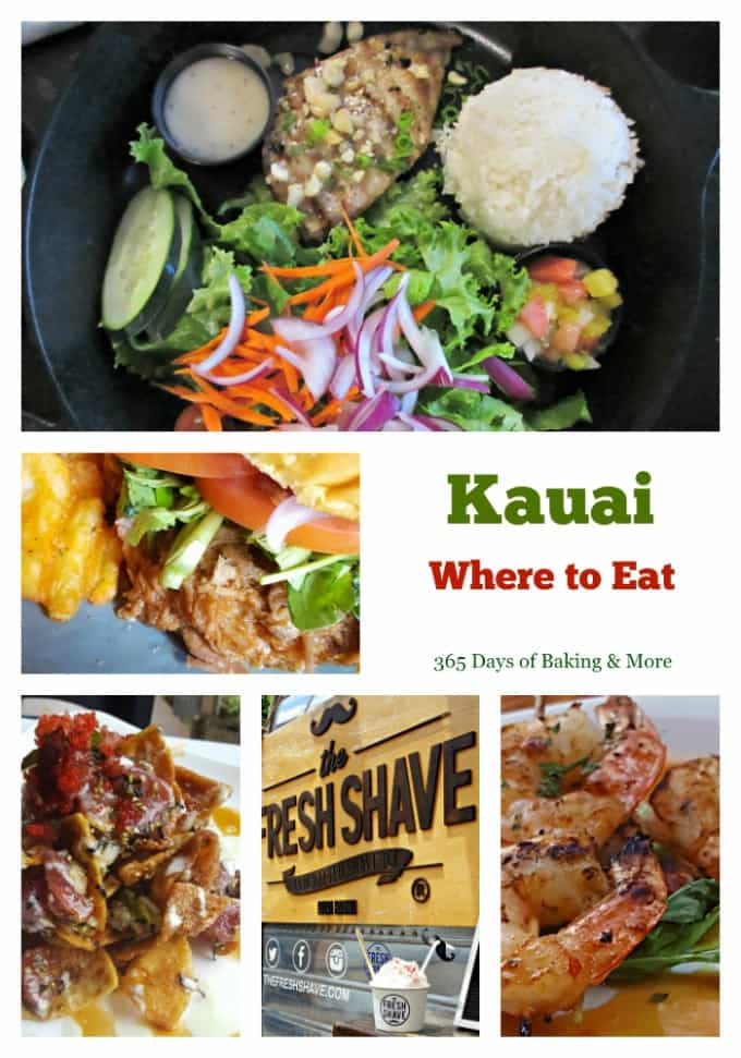 Here's where to eat in Kauai - a list of the places we ate while on vacation and the food that really made me all warm and fuzzy inside! 365 Days of Baking and More Travel