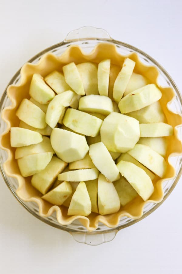 Apples in a pie crust.