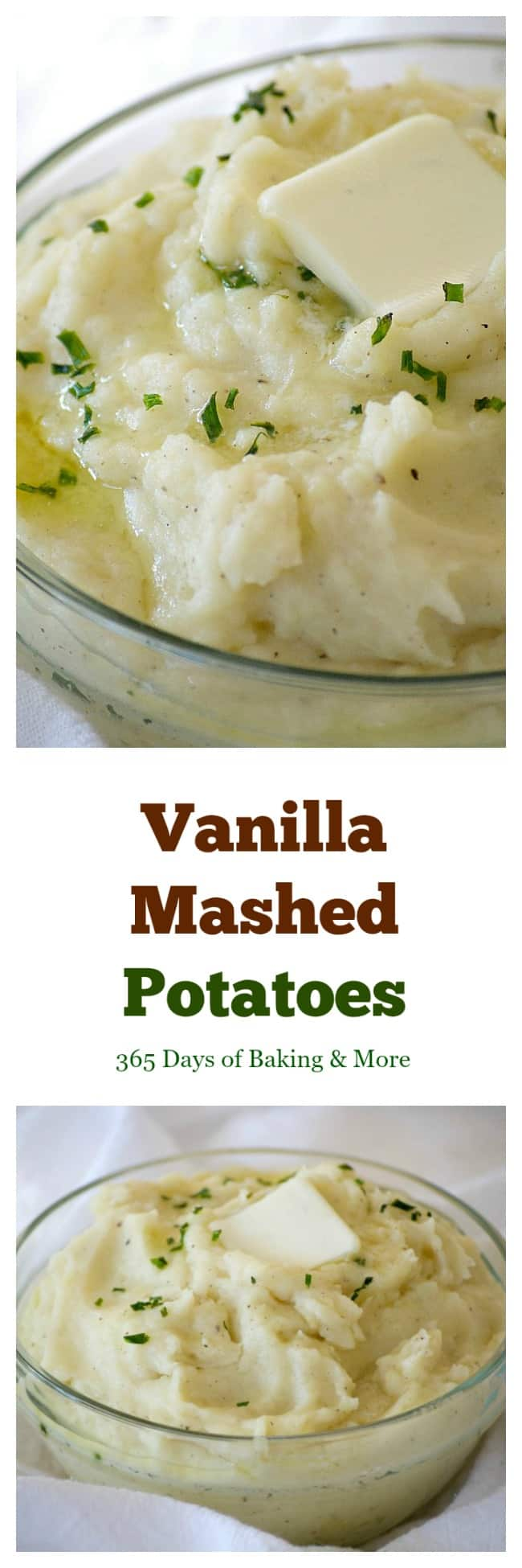 These Vanilla Mashed Potatoes are your classic mashed potatoes made even better with mascarpone and vanilla paste. The perfect complement to beef or turkey!
