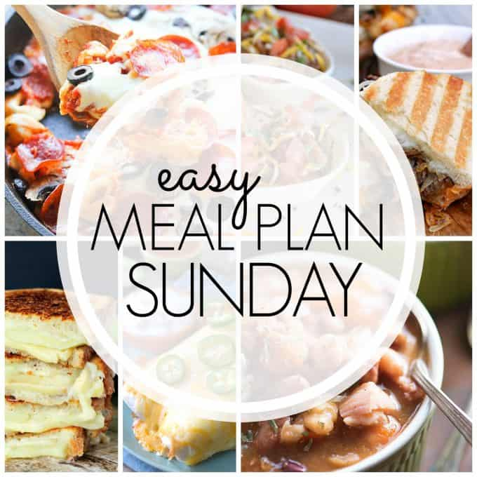With Easy Meal Plan Sunday Week 72 - six dinners, two desserts and a breakfast recipe will help you remove the guesswork from this week's meal planning.