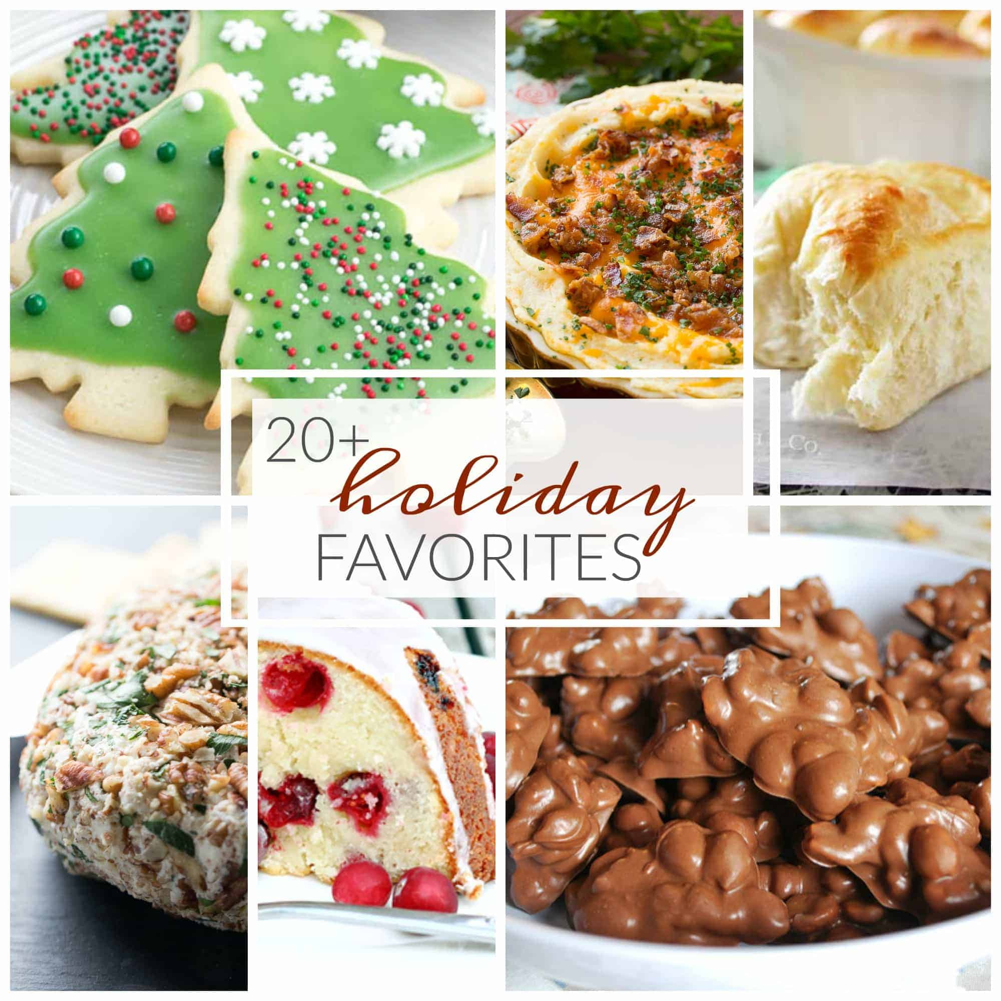 These 20+ Holiday favorites are sure to bring smiles to family and friends. What a great way to spend time together over the holidays and enjoying wonderful food!