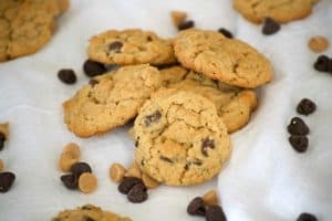 Double Peanut Butter Oatmeal Chocolate Chip Cookies