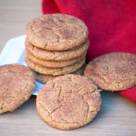 These Ginger Molasses Snickerdoodles are chewy cinnamon sugar cookies with the addition of ginger and molasses - the perfect Snickerdoodle for the holidays!