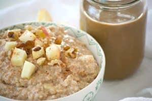 Shamrock Farms Cold Brew Coffee and Milk and Apple Oatmeal