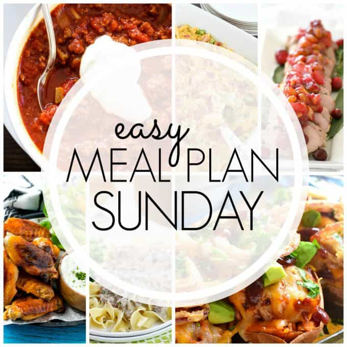 With Easy Meal Plan Sunday Week 78 - six dinners, two desserts and a breakfast recipe will help you remove the guesswork from this week's meal planning.