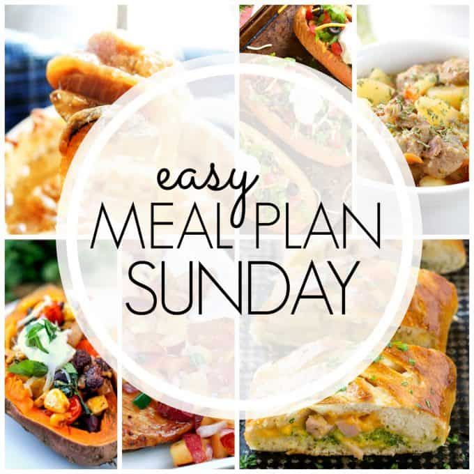 With Easy Meal Plan Sunday Week 79 - six dinners, two desserts and a breakfast recipe will help you remove the guesswork from this week's meal planning.