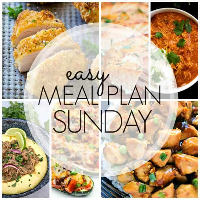 With Easy Meal Plan Sunday Week 80 - six dinners, two desserts and a breakfast recipe will help you remove the guesswork from this week's meal planning.