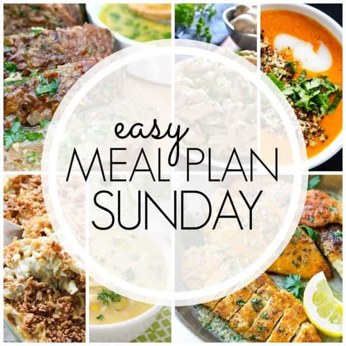 With Easy Meal Plan Sunday Week 83 - six dinners, two desserts and a breakfast recipe will help you remove the guesswork from this week's meal planning.