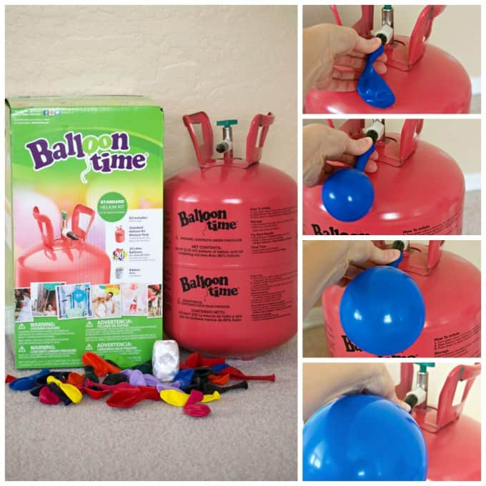 Add some color and fun to birthday parties with the pink Balloon Time helium tank!