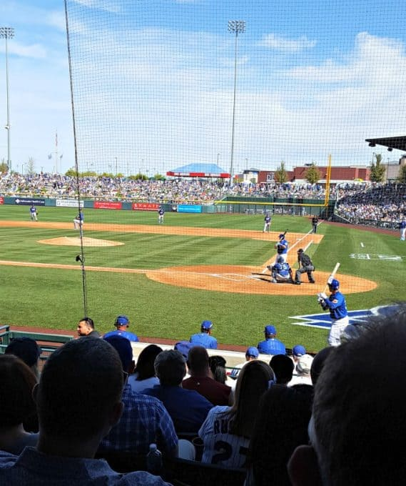 Cubs - Dodgers Spring training game. 3/4/17 Sloan Park, Mesa, AZ