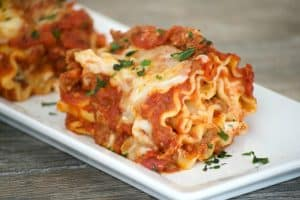 Lasagna Rolls with Meat Sauce