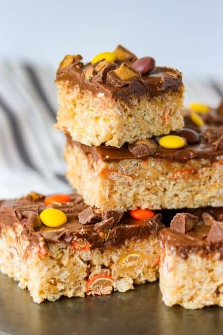 Reese's Peanut Butter Rice Krispies Treats