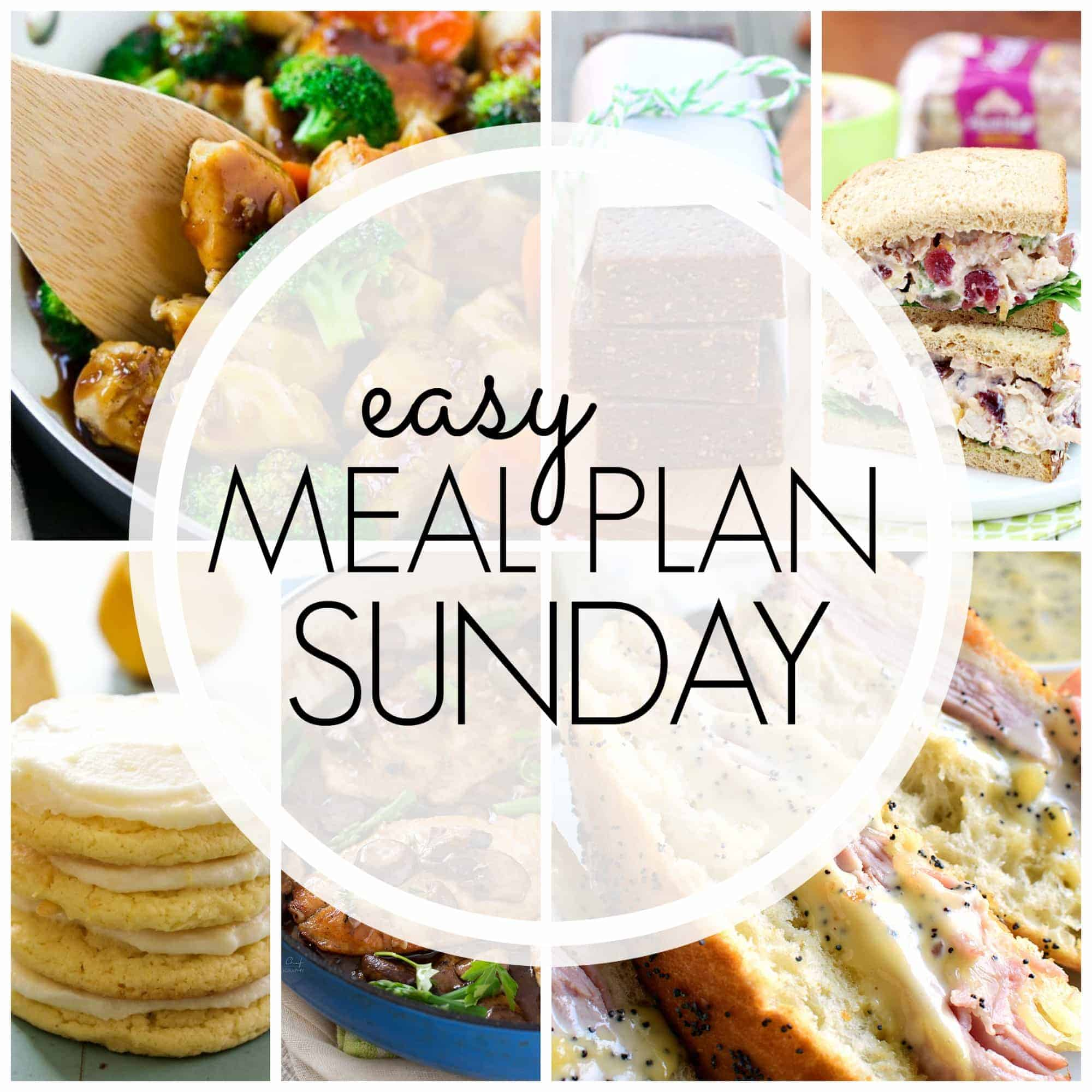 With Easy Meal Plan Sunday Week 91 - six dinners, two desserts, a breakfast and a healthy menu option will help get the week's meal planning done quickly!