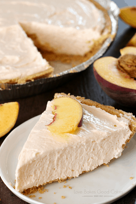 No Bake Peach Cheesecake