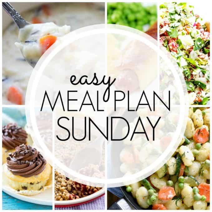 With Easy Meal Plan Sunday Week 93 - six dinners, two desserts, and a breakfast will help get the week's meal planning done quickly!