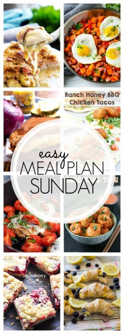 With Easy Meal Plan Sunday Week 94 - six dinners, two desserts, and a breakfast recipe will help you get the week's meal planning done quickly. Enjoy them!