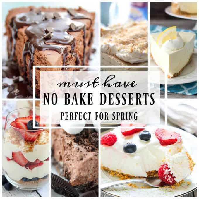 The weather's getting warmer and these 25 Must-Make No Bake Desserts for Spring are popular! Why turn the oven on when you can make these delicious treats?
