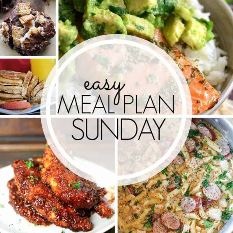 With Easy Meal Plan Sunday Week 96 - six dinners, two desserts, and a breakfast recipe will help you get the week's meal planning done quickly. Enjoy them!