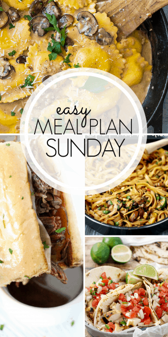 With Easy Meal Plan Sunday Week 97 - six dinners, two desserts, and a breakfast recipe will help you get the week's meal planning done quickly. Enjoy them!