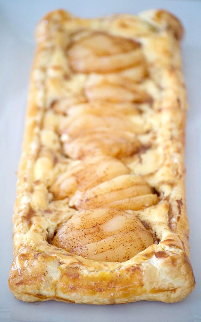 This Pear Cream Cheese Danish, with Marzipan cream cheese filling, sliced Libby's pears and cinnamon honey, will be a recipe you'll want to make repeatedly.