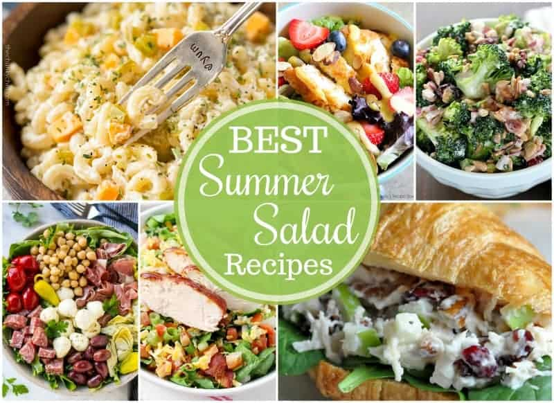 Summer means a rise in temperatures, so stay cool with these great summer salad recipes.  A great and delicious dinner doesn't have to be made in the oven!